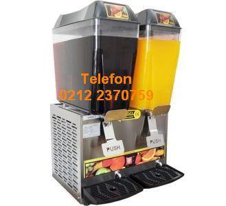 2 gözlü Limonata makinası-fışkırtmalı soğutuculu limonatalık makinası